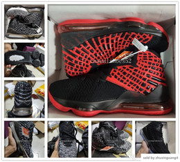 lebron basketball shoes size Australia - Fashion James Mens Basketball shoes Equality Oreo Bred Lebron 17 Battleknit Designer cushion Baskets Sports Sneaker Men Trainers Size 7-12