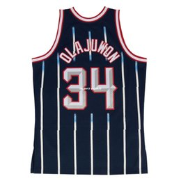 73f9a27db008 HAKEEM OLAJUWON  34 Sewn high quality Retro Vintage Top JERSEY Mens Vest  Size XS-6XL Stitched basketball Jerseys Ncaa