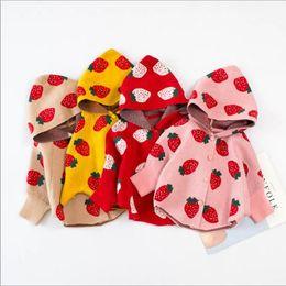 Vieeoease Girls Strawberry Sweater Cape Christmas Poncho Coat 2019 Autumn Winter Warm Cardigan Coat Kids Outerwear CC-560 on Sale