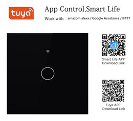 Wifi Home Automation Australia - Wireless Remote Control Wifi Enabled Switch Crystal Glass Panel For Smart Home Automation 1 2 3 Gang Switch