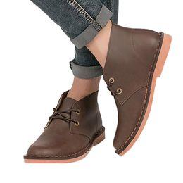 $enCountryForm.capitalKeyWord UK - Autumn Men's Classic British Booties Vintage Round Toe Lace-up Classic Boots Men Comfort Leather Shoes Botas Zapatos De Mujer
