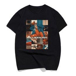 Pop Tees Australia - Billie Eilish Singer Ropa Hombre Casual T Shirt Mens T-shirts Pop Cotton 100% Short Sleeve Crewneck Summer 2019 Tee Shirt Homme