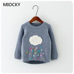 $enCountryForm.capitalKeyWord Australia - new Autumn cartoon baby girls sweater cloud raindrops kids clothes children sweater warm long sleeve for girls knitwear E0227