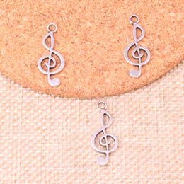 $enCountryForm.capitalKeyWord NZ - 200pcs Charms musical note Antique Silver Plated Pendants Fit Jewelry Making Findings Accessories 26*10mm