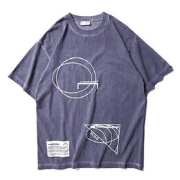 d57fe44e112e3 2019ss Best Quality Britain Fashion A-COLD-WALL ACW Logo Geometry Printed  Women Men T shirts tees Hiphop Men Cotton T shirt