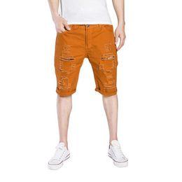 9e95799f3ca LASPERAL Fashion Ripped Hole Denim Shorts Men Black White Slim Skinny  Straight Casual Jeans Shorts Men Vintage Low Waist