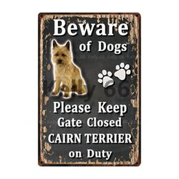 plastic bulldogs UK - [ Kelly66 ] Beware Of Dogs Cocker Spaniel Shiba Inu Bulldog Tin Metal Sign Home Decor Bar Wall Art Painting 20*30 CM Size Dy114