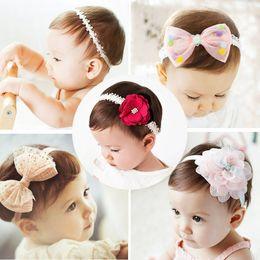 NewborN baby jewelry online shopping - korean Baby girls headband newborn fabric flowers for headbands DIY jewelry photographed photos Children hair accessories