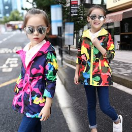 Baby Camouflage Jackets Australia - Hot Children Clothes Baby Girl Coat 2019 New Spring and Autumn Camouflage Dress Girl Fashion Zipper Coat Birthday Day Gift