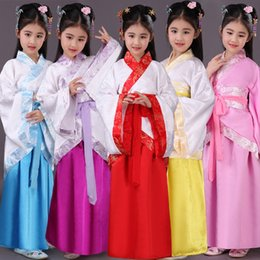 Girls Chinese Costumes Australia - Traditional Ancient Chinese Folk Dance Costumes Hanfu Dress Girls Children Classical Kids Child Tang Princess Clothing DWY1146
