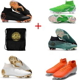 6ea8ae010cc14 original High Ankle Mens Soccer Cleats Mercurial Superfly VI 360 Elite FG  ACC Soccer Shoes 2018 World Cup FG Football Boots
