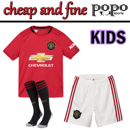 Kids embroidery suits online shopping - Kids New United Thailand suit Soccer Jersey POGBA LUKAKU ALEXIS Embroidery Logo soccer jersey