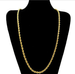 mens 24 inch chain Australia - 14k Gold Plated Rope Twist Chain for Men Chain 24 inch 5mm Mens Boys