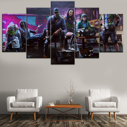 $enCountryForm.capitalKeyWord Australia - Most Popular Game Watchdog 2 ,5 Pieces Home Decor HD Printed Modern Art Painting on Canvas (Unframed Framed)