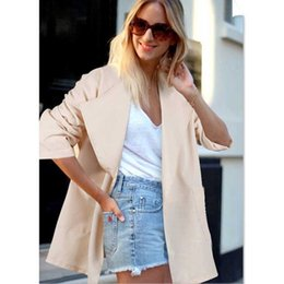 Wholesale 2019 Spring Autumn Trench Oversized Coat for Women Long Sleeve Plus Size Fashion Casual Office Ladies Outwear VKCO1062
