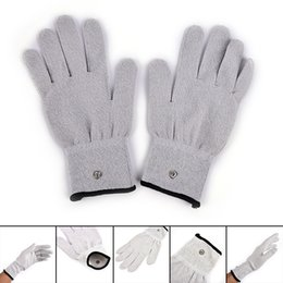 $enCountryForm.capitalKeyWord Australia - 2pcs pair Electro Gloves Electricity Conductive Gloves Electrode Electrical Fiber Therapy Massage