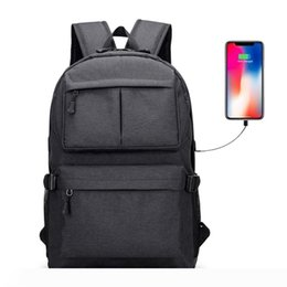usb b port Canada - B Business Laptop Backpack Water Resistant College School Daypack with USB Charging Port Travel Camping Shoulder Bag