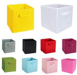 $enCountryForm.capitalKeyWord NZ - Non-Woven Fabric Folding storage box toys organizer clothes storage bin for Underwear Bra Socks books desktop box