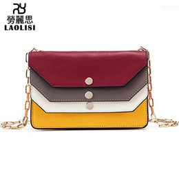 $enCountryForm.capitalKeyWord Australia - Lucky2019 Personality Originality Rainbow Hit Color Woman Genuine Leather Small Square Chain Single Shoulder Span Package