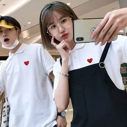 $enCountryForm.capitalKeyWord Australia - Red Heart Printed Funny Polo Fashion Designer Game Plays Female Tees Casual Couple Solid Tops