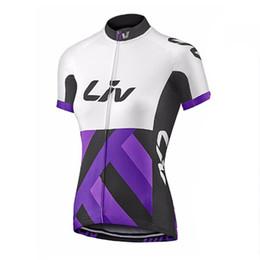 Women Bike Clothing UK - 2019 Pro Cycling Jersey LIV team Cycling clothing Short Sleeve Shirt Mountain Bike Clothes Summer Quick Dry Bicycle Sportswear F60359