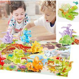$enCountryForm.capitalKeyWord Australia - Kids Pressure Inertial Sliding Dinosaur Toy Mini Press Slide Crawling Dinosaur Car Gift Intellectual Development Present Color Box