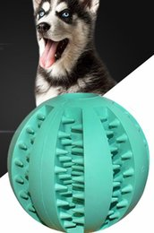 Pet Puzzle Toys NZ - Pet Leak Ball Dog Toy Ball Elastic Natural Rubber Mint Feeding Ball Pet Puzzle Toys