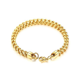 "$enCountryForm.capitalKeyWord UK - Curb Cuban Double Chains Link Men Bracelet Stainless Steel In Gold Silver Black Color 8.7"" Male Pulseira Jewelry BR-625"