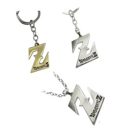 Best seller jewelry online shopping - Dragon Ball Keychains Z Shape Movie TV Periphery Necklace Alloy Jewelry Cartoon Popularity Key Ring Creative Boy Gifts Best Sellers mz N1