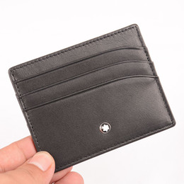 Chinese  Top quality Genuine Leather Credit Card Holder MEN'S Luxury MB ID Card Case mini wallet WITH BOX manufacturers