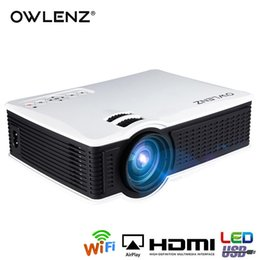 $enCountryForm.capitalKeyWord Australia - OWLENZ Wireless wifi Proyector Multi-Screen Airplay Miracast 1500Lumen HD Digital Multimedia LED Mini Projector Beamer SD60