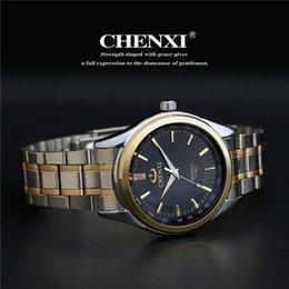 $enCountryForm.capitalKeyWord Australia - New Arrival CHENXI Brand Fashion Gold Strap Men's Women Business Quartz Watches Dress Stainless Full Steel Shockproof Sport Wristwatch