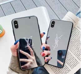 Mobile Mirrors online shopping - 19ss New designer brand mirror mobile phone case for the iPhone X XR Xs Max S plus luxury shockproof Cover A05