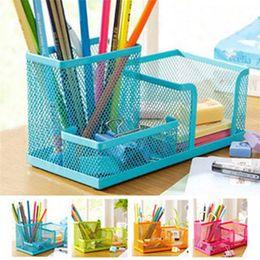 Desk Accessories & Organizer 1pc Novelty Hexagon Pencil Pen Holder Desk Storage Box Organizer Business Desktop Stationery Office School Gift Superior Materials