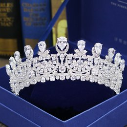 $enCountryForm.capitalKeyWord Australia - 2019 Real Photos Amazing Luxurious Junoesque Sparkle Pageant Crowns Rhinestones Wedding Bridal Crowns Bridal Jewelry Tiaras Hair Accessories