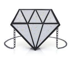 Discount mini buckets cartoon - Luminous Bag Women's Diamond Geometry Tote Shoulder bucket Laser Plain Folding Handbags Hologram 2019