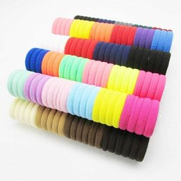 girls hair ponytail clips UK - 100Pcs elastic hair band black white hair accessories for ponytail rubber band holder clips for girls cLn2#