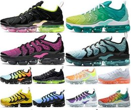 sports plus shoes NZ - TN PLUS Running Shoes Men Women Triple White Black Zebra Multi Color Hyper Violet Blue Bumblebee Mens Trainers Sneakers Sports Size 5.5-12