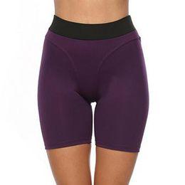 $enCountryForm.capitalKeyWord NZ - Women High Waist Yoga Shorts Leggings Solid Shortpants Gym Fitness Compression Slim Tight Push Up Sportswear Workout Bottoms