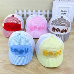 $enCountryForm.capitalKeyWord Australia - Summer Hot Baby Kids Caps Hats Ball Caps Thin 100% Cotton Sunhat Bucket Hats 5 Colors 3-24 Months