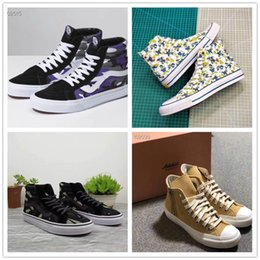 Spring Fall Canvas Shoes Australia - Spring 2019 new men's and women's Hong Kong style camo canvas shoes for women's high-top shoes for men's versatile sports casual shoes a21