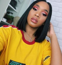 women straight human hair wigs 2019 - Brazilian Hair Short Bob Wigs Straight Lace Front Wigs For Black Women Swiss Lace Human Hair Wigs cheap women straight h