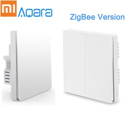 Lighted Light Switches Australia - Xiaomi Aqara Wall Switch Smart Light Control Smart Light Control ZigBee Version Mijia Home App Remote Control Smart Home Kit