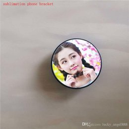 Wholesale universal sublimation cell phone holders DIY customized blank Heat transfer ring button for sublimation for IOS for Android include not hook