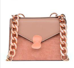 Color Leather Bags Australia - new Fashion Famous Brand Chain Flap Bags Lady Designer Handbags Top quality Pure color Handbags Crossbody Bags PU Leather Messenger Bag