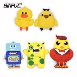 pens birds NZ - Robot Pen Cartoon Bird Usb Flash Drive 64gb 32gb 16gb 8gb 4gb Pendrive Tiger Memory Stick High Quality Cat U Disk