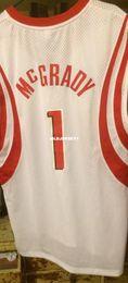 $enCountryForm.capitalKeyWord NZ - Cheap wholesale Tracy Mcgrady #1 jersey Sewn White Men T-shirt vest Stitched Basketball jerseys Ncaa