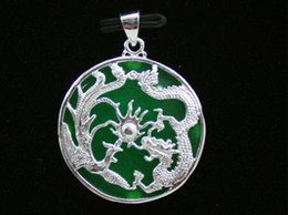 $enCountryForm.capitalKeyWord Australia - necklace Free shipping ++++ HOT NEW sale Green Natural jade carved inlaid dragon pendant + With Necklace 5.27