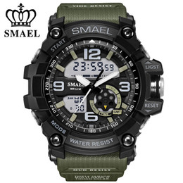 japan sport watch digital NZ - Smael Brand LED Digital Quartz Watch Men's Waterproof Sprot Watch Men Japan Movement Casual Military Watches Relogio Masculino LY191213