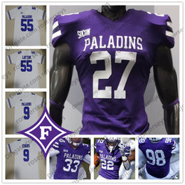 $enCountryForm.capitalKeyWord Australia - Custom Furman Paladins Football Any Number Name Purple White 4 Darren Grainger 9 Hamp Sisson 22 Devin Wynn 5 Dae'one Wilkins Jerseys 4XL